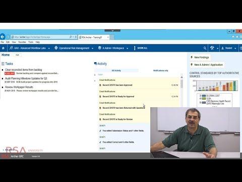 RSA Archer Suite Introduction - YouTube