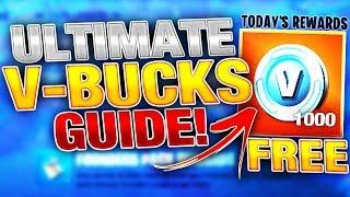 Ultimate FREE VBUCKS Farming Guide in Fortnite! | Earn 1000 VBUCKS A Day!