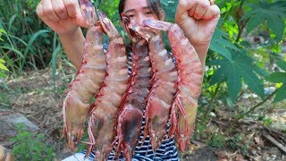 Yummy Giant Tiger Shrimp Cooking - Giant Tiger Shrimp Stir Fry Recipe - Cooking With Sros