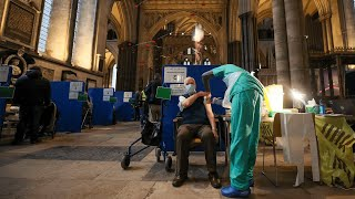 video: Video: Salisbury Cathedral turned into 'beautiful' vaccine centre