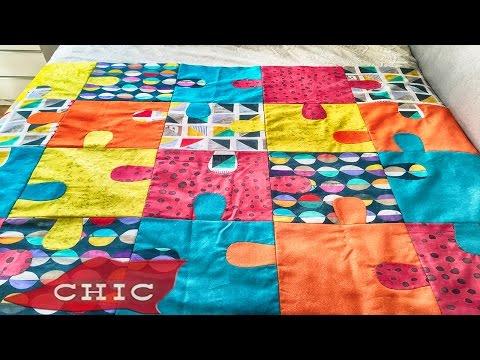 Como hacer Colcha puzzle | Chic labores