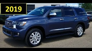 2019 Toyota Sequoia Platinum full feature review and first look.