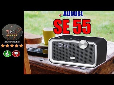 🎬AMAZON►August SE55 - Altoparlante Bluetooth con EQ, Radio FM