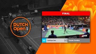 Lakshya Sen vs Yusuke Onodera - Dutch Open 2019 MS F