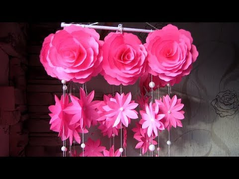 DIY. Simple Home Decor. Wall Decoration 4. Hanging Flower. Paper ...