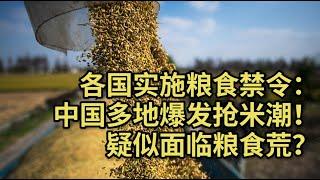 【时事追踪】各国实施粮食禁令:中国多地爆发抢米潮,疑似面临粮食荒?