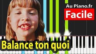 Angèle Balance Ton Quoi Piano Facile Karaoké Paroles