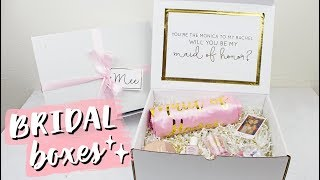 Will You Be My Bridesmaid? | DIY Bridal Boxes & Gold Foil!