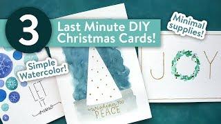 Easy DIY Christmas Cards! LAST MINUTE CARD IDEAS!