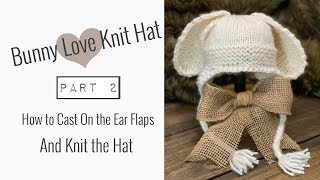 How to KNIT A BABY HAT with EAR FLAPS (Beginner Level)