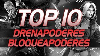 TOP 10 - Drenapoderes y Bloqueapoderes | Marvel Contest of Champions
