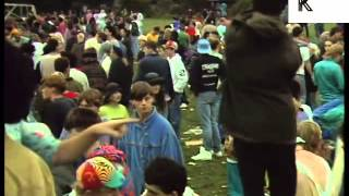 1989 UK Outdoor Rave, Acid House, Summer of Love Archive Footage