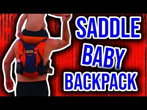 SaddleBaby Backpack.  5 Mile Hike!  Unbox and Review.