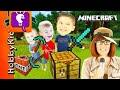 Minecraft SCAVENGER HUNT! Surprise Toys + Video Game Play, HobbyBobby Family Fun HobbyKidsTV