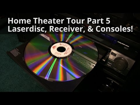 Home Theater Tour Part 5 - Laserdisc, Receiver, & Consoles!