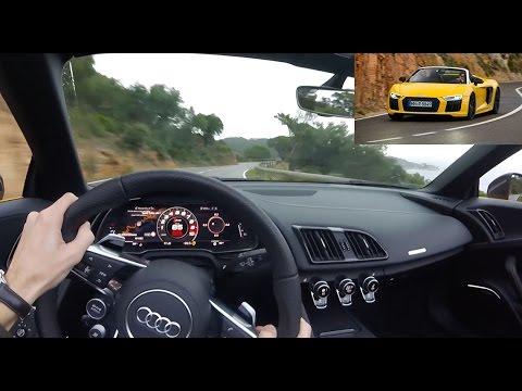 2017 Audi R8 Spyder [POV DRIVE ONBOARD] : prenez le volant ! (Acceleration & Sound)
