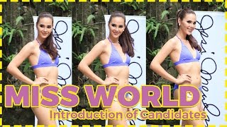 Miss World Philippines 2016 Contestants Introduction