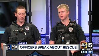 Mesa officers talk about rescuing woman from apartment fire