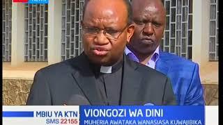 Askofu wa kanisa katoliki jimbo la Nyeri Anthony Muheria amewahimiza wanasiasa kutatua shida zao