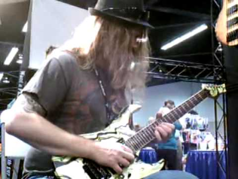 Darrin Goodman demoing the SPEAR Gladius SW at the 2012 NAMM Show