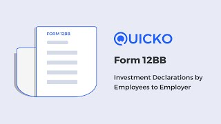 Form 12BB : Investment Declaration by Employees to Employer