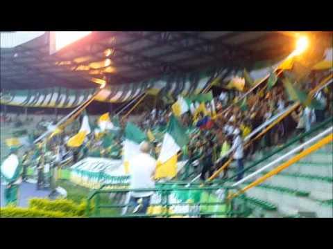 """""""SOMOS LA REGION ARTILLERIA VERDE SUR 03/11/2014"""" Barra: Artillería Verde Sur • Club: Deportes Quindío"""