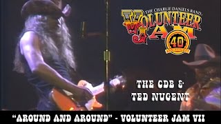 Ted Nugent & The Charlie Daniels Band - Around and Around - Volunteer Jam VII