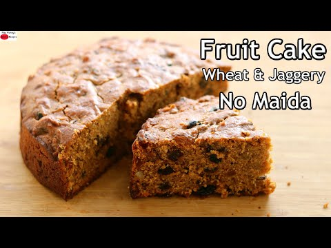 Last Minute Christmas Fruit Cake Recipe – Healthy Kerala Plum Cake With Wheat Flour & Jaggery