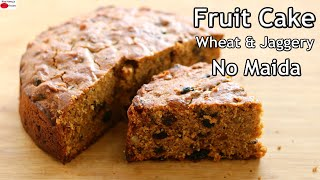 Last Minute Christmas Fruit Cake Recipe – Healthy Kerala Plum Cake With Wheat Flour & Jaggery