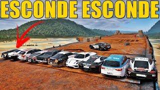 ESCONDE ESCONDE NA PRAIA ABANDONADA COM OS CARROS DA POLICIA - FORZA HORIZON 3 - GAMEPLAY