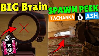How Champion Players Use *Bullet Holes*   Tachanka INSANE Spawn Peek - Rainbow Six Siege