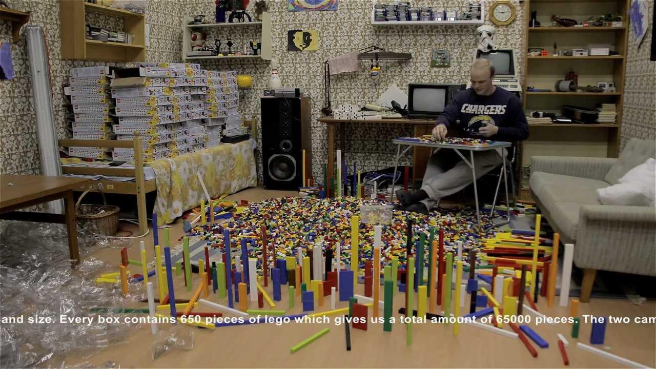Watch A Man Child Unbelievably Spend Three Days Sorting 65,000 Lego Bricks
