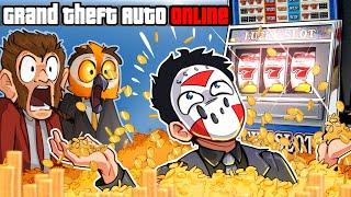 GTA 5 - LUI CALIBRE *CLICK BAIT* & I HIT THE $625,000 JACKPOT!!!! (CASINO UPDATE) Part 2