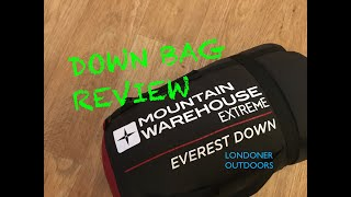 Mountain Warehouse Everest Down Sleeping Bag | Review | Winter Sleeping Bag | Ethical Down?