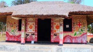 Huts in Srijani Shilpagram near Shantiniketan
