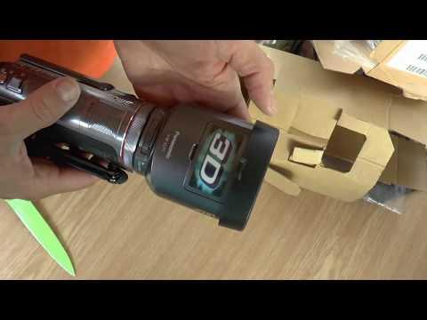 Panasonic HDC-SDT750 3D Camcorder - rozbalovačka