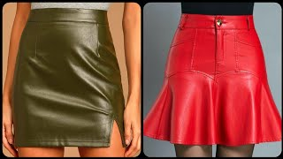 Most Demanding And Classy Office Wear Leather Mini Skirts For Ladies 2020