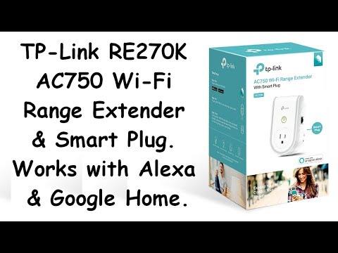 TP-Link RE270K, AC750 Wi-Fi Range Extender & Smart Plug.
