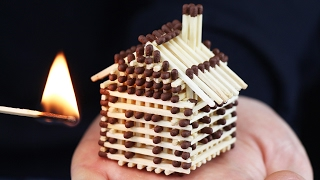 How to Make a Match House Without Glue and Burn it Down
