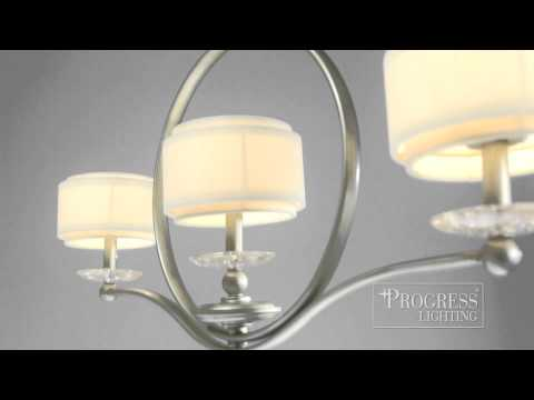 Video for Ashbury Silver Ridge Two-Light Semi-Flush Mount with Toasted Linen Shade