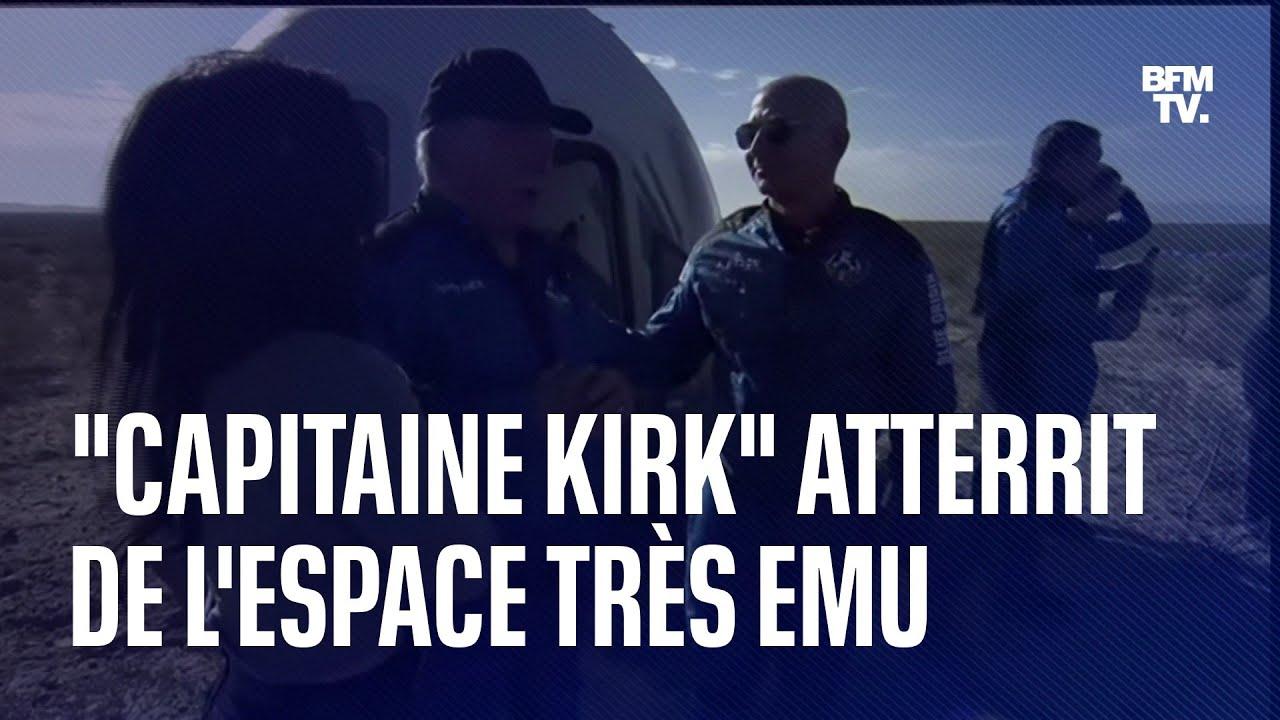 L'acteur de Star Trek William Shatner atterrit très ému de son court voyage dans l'espace