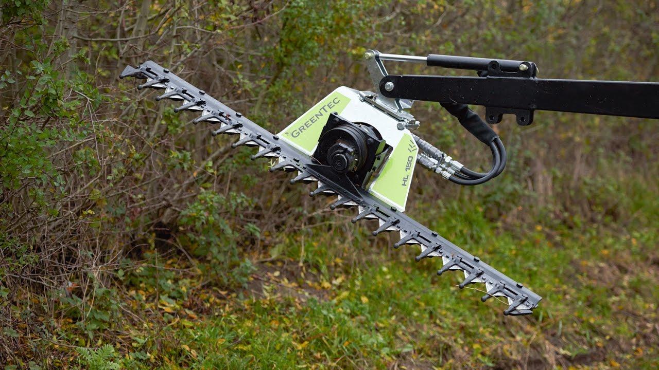 Hydraulische heckenschere für traktor und frontlader