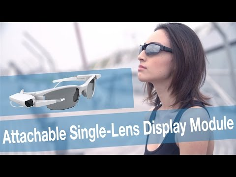 Single-Lens Display Module demo: the concept model SmartEyeglass Attach! [video]