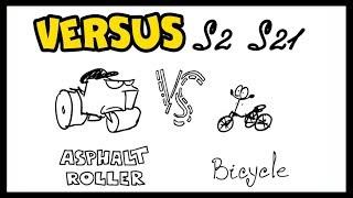 VERSUS - Asphalt Roller vs bicycle