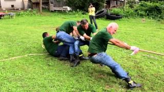 Turniej Wsi - Przeciąganie liny - Przybówka vs Rzepnik