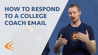 How to Respond to a College Coach Email