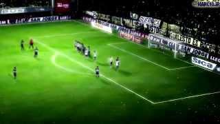 Gol Juan Román Riquelme vs Riber / Relato Daniel Mollo