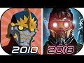 EVOLUTION of STAR LORD in Movies TV Cartoons Anime (2010-2018) Guardians of the Galaxy Infinity War