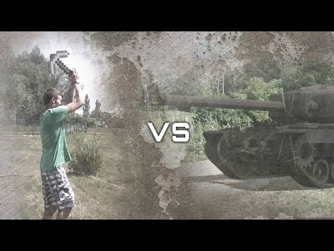 World of tanks VS Minecraft (In real life)