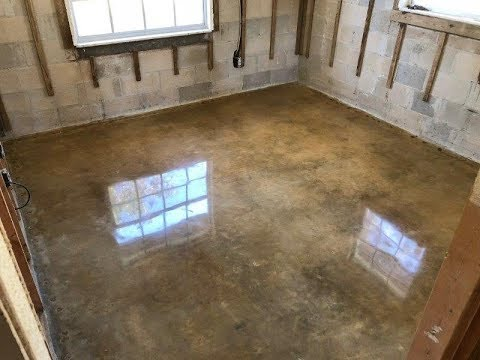 Residential Stained Polished Concrete Tampa